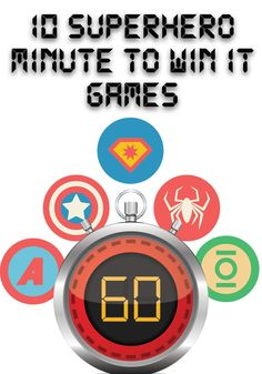 FREE Superhero Minute To Win It Games
