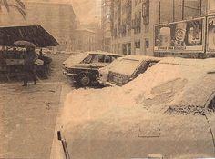 fotos antiguas Nevada en Murcia. Glorieta de España