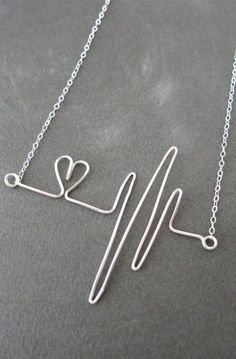 Heartbeat Necklace - Sterling Silver Wired