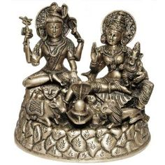 Hindu Religious Statue of God Shiva and Parvati Made in Brass 22.2 x 13.3 x 19.7 Cms: Amazon.co.uk: Kitchen & Home