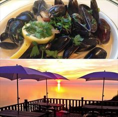 """Lemon cream mussels with cilantro. Simple dish with a taste that will blow you away. Flavor builds on the char of the lemon and onion."" Has anyone tried this tasty dish yet? http://www.musselmaniapei.com/restaurants/point-prim-chowder-house/"