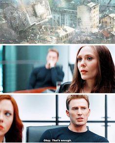 """Steve saw Wanda's reaction and made General Ross stop. I ship this Brotp!    #dailyavenging #marvel #captainamericacivilwar"""
