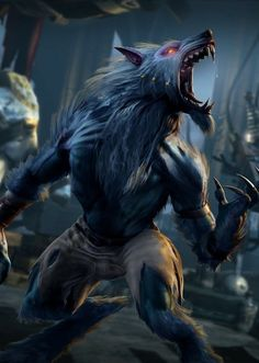 Killer Instinct's Sabrewulf Born into a venerable and aristocratic German family, Baron Konrad von Sabrewulf was a well-educated but idle man, prone to addiction and vice. Female Werewolves, Vampires And Werewolves, Furry Art, Fantasy Creatures, Mythical Creatures, High Fantasy, Fantasy Art, Apocalypse, Werewolf Art