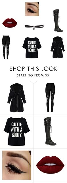 """Aimee - Auror Outfit - My Hope"" by mia133514 on Polyvore featuring WithChic, Boohoo, Joie, Lime Crime and Fallon"