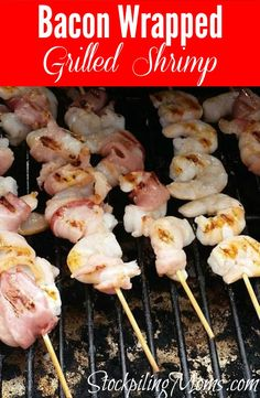 Bacon Wrapped Grilled Shrimp recipe is a great gluten free, healthy Whole 30 compliant dinner or lunch meal!
