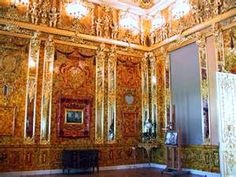 amber room in catherine palace in st petersburg.  omg!  the walls and everything are made of amber.  would be amazing to see with my baby