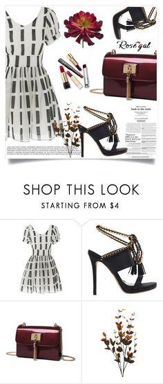 """Mini Dress"" by zenabezimena ❤ liked on Polyvore featuring fashionset and rosegal"