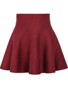 Red High Waist Ruffle Skirt 9.90