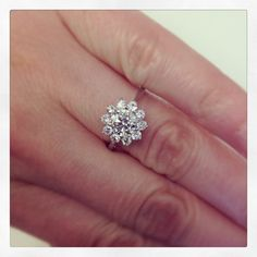 DeBebians: Floral Halo Engagement Ring Setting