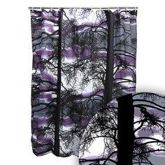 Vallila Kelohonka Lilac/Grey Extra-Long Shower Curtain