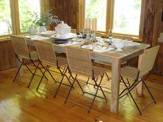 "Driftwood Dining Room Table  (84""L x 34""W x 29""H). $719.00, via Etsy."