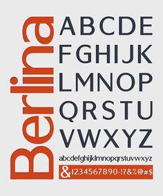 Berlin – Free Headline Fonts Poster B