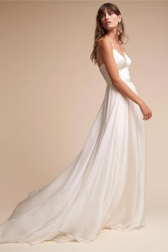 2504bac75a4 BHLDN s Catherine Deane Kameron Gown in Cream  bride Budget Wedding Dress