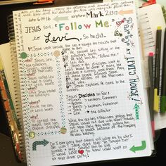 Day 3 of journaling the Gospel of Mark. Do you ever wonder what all happened at the dinner party Jesus went to at Levi's house? I sure do! I also love my Farm Girl Journals Bible Journal. I can journal and take notes and be creative even with my limited artistic abilities!