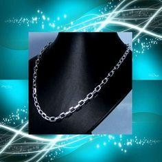cadena de plata gruesa