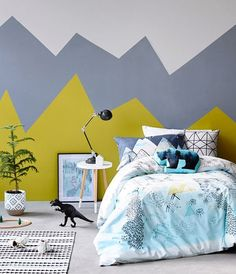 Kids Room / Kids Room / Kids Room Decor, Kids Deco Idea, Colorful Kids Room, Kids Room Arty, Lovely Market Source by mcmaison Bedroom Wall, Kids Bedroom, Bedroom Decor, Bedroom Paint Colors, New Room, Child's Room, House Rooms, Wall Design, Interior Design
