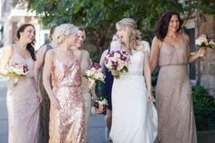 Enchanted Florist | Peach and Plum Downtown Elegance | Real Wedding at The Bell Tower