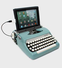 Vintage Typewriter USB Keyboard & iPad Stand, Model B | Modify your workspace with this beautiful USB typewriter keybo... | Typewriters