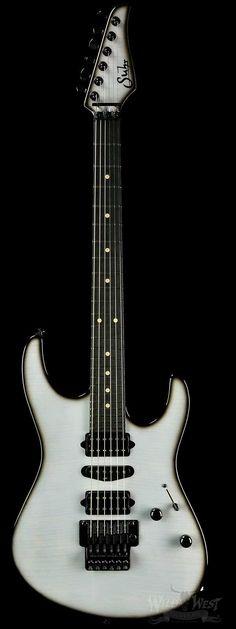Suhr Custom Modern Yeti Burst (Trans White w/ Black Burst)