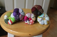 Pink floral cotton mini pincushion by recupefashion on Etsy