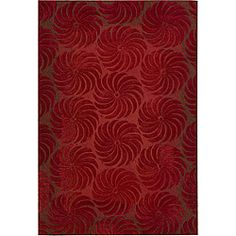 Nourison Hand-Tufted Contours Flame Area Rug (3'6 x 5'6)
