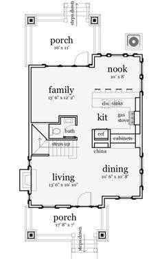 Craftsman Style House Plan - 3 Beds 2.5 Baths 1586 Sq/Ft Plan #64-138 Floor Plan - Main Floor Plan - Houseplans.com