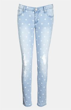 """Edyson """"The Sloan"""" Skinny Jeans polka dot denim   Wantering Trends – Spring 2013   #wanteringtrends go to http://springtrends2013.wantering.com/ for more"""