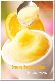 Homemade orange sorbet recipe has instructions also without using an ice cream machine. Step by step instructions.