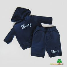Personalized newborn baby infant hoodie jacket sweatpants gift set - coming home outfit for baby boy. $32.00, via Etsy.