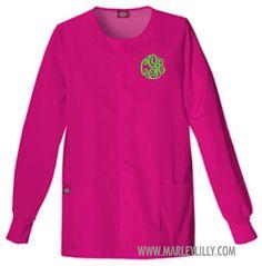 Monogrammed Dickies Round Neck Jacket | Scrubs | Marley Lilly