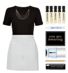 """""""Daily reminder..."""" by hevsyblue2 ❤ liked on Polyvore featuring Ted Baker, Accessorize, Topshop, Marc Jacobs, Nails Inc., Caran D'Ache, Le Labo, Biosmose Institute, Americanflat and myfavorite"""