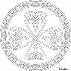 Don't Eat the Paste: Shamrock coloring page