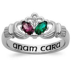 Birthstone claddagh ring.   Anam Cara = soul mate :-)