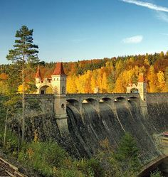 """""""Les Královstvi"""" (The Forest of Kingdoms) dam in romantic style (East Bohemia), Czechia Kingdom Of Bohemia, Beautiful Places In The World, Amazing Places, Destinations, Prague Czech Republic, Europe Photos, Central Europe, The Good Place, Roots"""