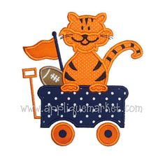 Machine Embroidery Design Applique Tiger Wagon by tmmdesigns, $4.00