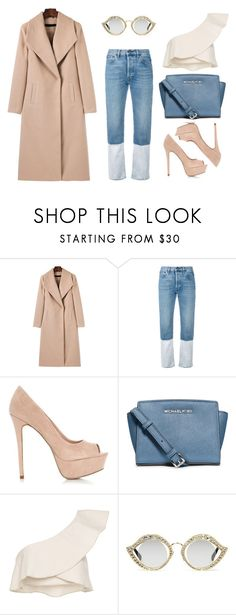 """""""Styling a light coat"""" by thestyleartisan ❤ liked on Polyvore featuring WithChic, Ports 1961, MICHAEL Michael Kors, Isabel Marant and Gucci"""
