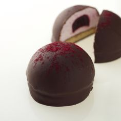 Raspberry and Rose Teacakes, buttery shortbread biscuit topped with fluffy raspberry marshmallow filled with raspberry and rose jam enrobed in smooth crisp chocolate. www.lafleurdechocolat.co.uk
