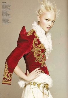 "To die for: Sasha Pivovarova in Alexander McQueen - US Vogue September 2008 US Editorial ""Noble Endeavor"" by Winter Phoenix, via Flickr"