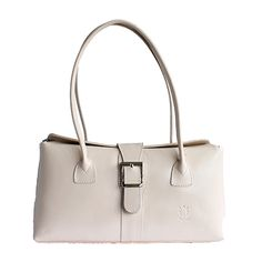 Buckle Lock Cream Leather Shoulder Bag - Down to £49.99 from £59.99