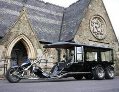 Look at this cool VW Trike Hearse !