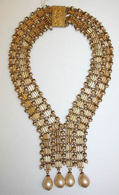 Necklace (Sautoir) - House of Dior, French, ca. 1960; metal, plastic. Designed by Yves Saint Laurent