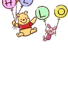 Winnie The Pooh Gif, Winnie The Pooh Drawing, Winnie The Pooh Pictures, Cute Disney Wallpaper, Line Sticker, Cute Characters, Cute Gif, Disney Drawings, Cute Stickers