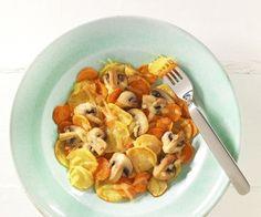 Bratkartoffeln mit Pilzen und Reibekäse