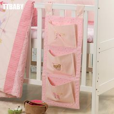 Cots Bag Bottle Bag Baby Diaper Bags Pouch Continental crib diaper bag accessories Bedside Bag children bed sets free shipping-inBedding Set...