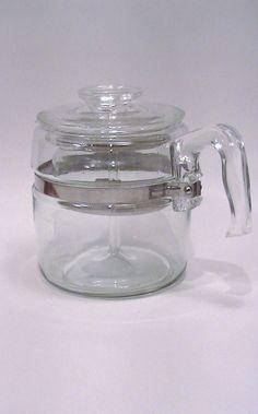 6 cup Vintage Pyrex Flameware Coffee Pot by Lifeinmommatone, $45.00