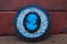 Katherine Cameo  Womens Mosaic Belt Buckle Shell and by Circa67, $85.00