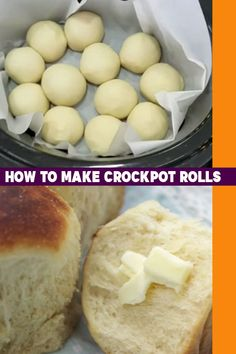 How To Make Dinner Rolls In A Crockpot - Easy Bread Recipes – Crockpot Roll Recipe -How to Make Rolls In A Crockpot – Slow Cooker Bread - Slow Cooker Bread, Crock Pot Slow Cooker, Slow Cooker Recipes, Cooking Recipes, Cooking Tips, Slow Cooking, Crock Pot Brot, How To Make Rolls, Homemade Rolls