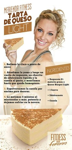 Receta Tarta de Queso Light - Merienda Fitness en Femenino: