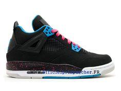 big sale a5ced b742f Air Jordan 4 Retro GS Boutique Basketball Chaussures Pas Cher Femme Blanc    noir 487724 019-1804020554-Basket Air Jordan Site Officiel Moins cher ...