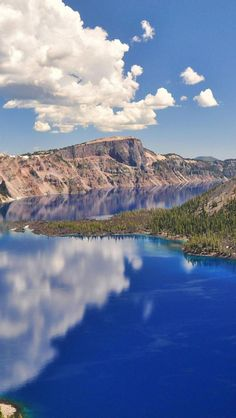 Vivid Blue, Crater Lake, Oregon State, United States.I want to visit here one day.Please check out my website thanks. https://www.photopix.co.nz